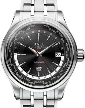 Ball Watch Trainmaster World Time GM2020D-S1CJ-BK